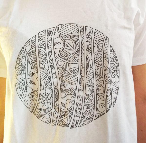 Maglietta Mandala da colorare Abbondanza